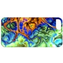 Abstract Fractal Batik Art Green Blue Brown Apple iPhone 5 Classic Hardshell Case View1