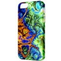 Abstract Fractal Batik Art Green Blue Brown Apple iPhone 5 Classic Hardshell Case View3