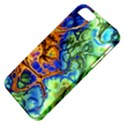 Abstract Fractal Batik Art Green Blue Brown Apple iPhone 5 Classic Hardshell Case View4
