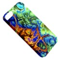 Abstract Fractal Batik Art Green Blue Brown Apple iPhone 5 Classic Hardshell Case View5