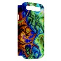 Abstract Fractal Batik Art Green Blue Brown Samsung Galaxy S III Hardshell Case (PC+Silicone) View2
