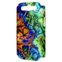 Abstract Fractal Batik Art Green Blue Brown Samsung Galaxy S III Hardshell Case (PC+Silicone) View3