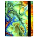 Abstract Fractal Batik Art Green Blue Brown Apple iPad 3/4 Flip Case View2