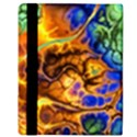 Abstract Fractal Batik Art Green Blue Brown Apple iPad Mini Flip Case View3