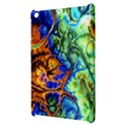 Abstract Fractal Batik Art Green Blue Brown Apple iPad Mini Hardshell Case View3
