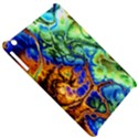 Abstract Fractal Batik Art Green Blue Brown Apple iPad Mini Hardshell Case View5