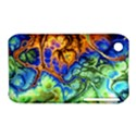 Abstract Fractal Batik Art Green Blue Brown Apple iPhone 3G/3GS Hardshell Case (PC+Silicone) View1
