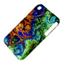 Abstract Fractal Batik Art Green Blue Brown Apple iPhone 3G/3GS Hardshell Case (PC+Silicone) View4
