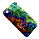 Abstract Fractal Batik Art Green Blue Brown Apple iPhone 3G/3GS Hardshell Case (PC+Silicone) View5