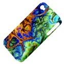 Abstract Fractal Batik Art Green Blue Brown Apple iPhone 4/4S Hardshell Case (PC+Silicone) View4