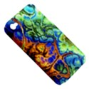 Abstract Fractal Batik Art Green Blue Brown Apple iPhone 4/4S Hardshell Case (PC+Silicone) View5