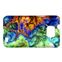 Abstract Fractal Batik Art Green Blue Brown Samsung Galaxy S II i9100 Hardshell Case (PC+Silicone) View1