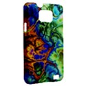 Abstract Fractal Batik Art Green Blue Brown Samsung Galaxy S II i9100 Hardshell Case (PC+Silicone) View2