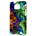 Abstract Fractal Batik Art Green Blue Brown Samsung Galaxy S II i9100 Hardshell Case (PC+Silicone) View3