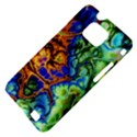 Abstract Fractal Batik Art Green Blue Brown Samsung Galaxy S II i9100 Hardshell Case (PC+Silicone) View4