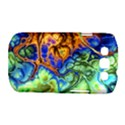 Abstract Fractal Batik Art Green Blue Brown Samsung Galaxy S III Classic Hardshell Case (PC+Silicone) View1