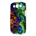 Abstract Fractal Batik Art Green Blue Brown Samsung Galaxy S III Classic Hardshell Case (PC+Silicone) View3
