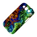 Abstract Fractal Batik Art Green Blue Brown Samsung Galaxy S III Classic Hardshell Case (PC+Silicone) View4