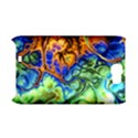 Abstract Fractal Batik Art Green Blue Brown Samsung Galaxy Note 2 Hardshell Case (PC+Silicone) View1