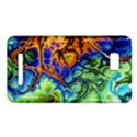 Abstract Fractal Batik Art Green Blue Brown HTC One SU T528W Hardshell Case View1