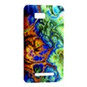Abstract Fractal Batik Art Green Blue Brown HTC One SU T528W Hardshell Case View2