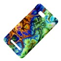 Abstract Fractal Batik Art Green Blue Brown HTC One SU T528W Hardshell Case View4