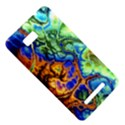 Abstract Fractal Batik Art Green Blue Brown HTC One SU T528W Hardshell Case View5