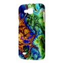 Abstract Fractal Batik Art Green Blue Brown Samsung Galaxy Premier I9260 Hardshell Case View3