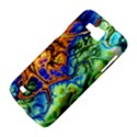 Abstract Fractal Batik Art Green Blue Brown Samsung Galaxy Premier I9260 Hardshell Case View4