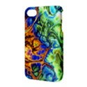 Abstract Fractal Batik Art Green Blue Brown Apple iPhone 4/4S Hardshell Case with Stand View3