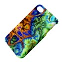 Abstract Fractal Batik Art Green Blue Brown Apple iPhone 4/4S Hardshell Case with Stand View4