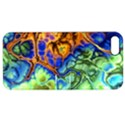Abstract Fractal Batik Art Green Blue Brown Apple iPhone 5 Hardshell Case with Stand View1