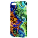 Abstract Fractal Batik Art Green Blue Brown Apple iPhone 5 Hardshell Case with Stand View3