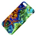 Abstract Fractal Batik Art Green Blue Brown Apple iPhone 5 Hardshell Case with Stand View4