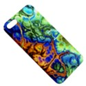 Abstract Fractal Batik Art Green Blue Brown Apple iPhone 5 Hardshell Case with Stand View5