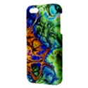 Abstract Fractal Batik Art Green Blue Brown Apple iPhone 5 Premium Hardshell Case View3