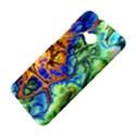 Abstract Fractal Batik Art Green Blue Brown HTC One M7 Hardshell Case View4