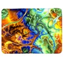 Abstract Fractal Batik Art Green Blue Brown Samsung Galaxy Tab 7  P1000 Flip Case View1