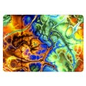 Abstract Fractal Batik Art Green Blue Brown Samsung Galaxy Tab 10.1  P7500 Flip Case View1