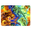 Abstract Fractal Batik Art Green Blue Brown Samsung Galaxy Tab 8.9  P7300 Flip Case View1