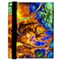 Abstract Fractal Batik Art Green Blue Brown Samsung Galaxy Tab 8.9  P7300 Flip Case View3