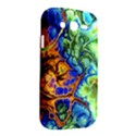 Abstract Fractal Batik Art Green Blue Brown Samsung Galaxy Grand DUOS I9082 Hardshell Case View2