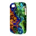Abstract Fractal Batik Art Green Blue Brown BlackBerry Q10 View3