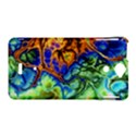 Abstract Fractal Batik Art Green Blue Brown Sony Xperia V View1