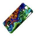 Abstract Fractal Batik Art Green Blue Brown Sony Xperia V View4