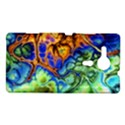 Abstract Fractal Batik Art Green Blue Brown Sony Xperia SP View1