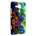 Abstract Fractal Batik Art Green Blue Brown Sony Xperia SP View2