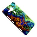 Abstract Fractal Batik Art Green Blue Brown Sony Xperia SP View5