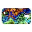 Abstract Fractal Batik Art Green Blue Brown Samsung Galaxy Mega 6.3  I9200 Hardshell Case View1