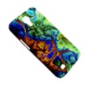 Abstract Fractal Batik Art Green Blue Brown Samsung Galaxy Mega 6.3  I9200 Hardshell Case View5